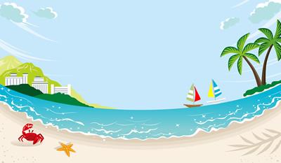 夏の海の風景